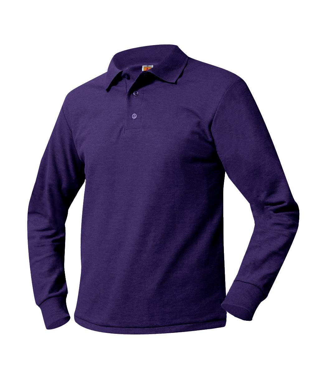 Long Sleeve Polo Shirt - Amani - Purple