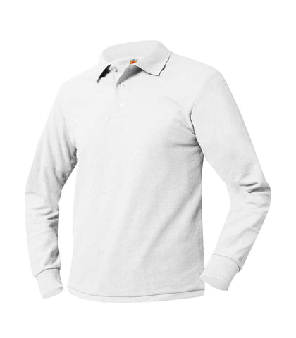 Long Sleeve Polo Shirt White