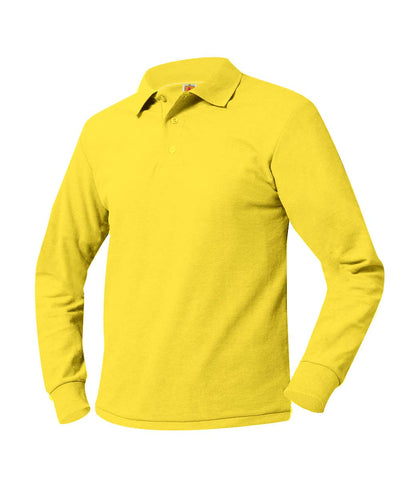 Long Sleeve Polo Shirt Yellow