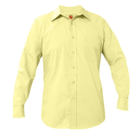 Boys Long Sleeve Dress Shirt Yellow