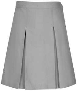 Kick Pleat Skirt Gray