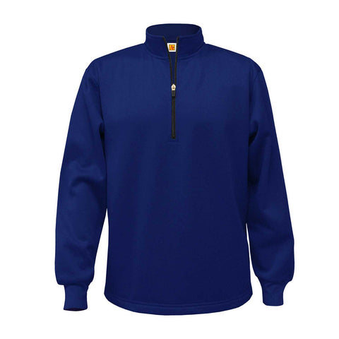 Performance Fleece Quarter-Zip Pullover- Navy - With School Logo