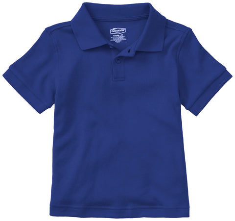Short Sleeve Polo Shirt - Royal Blue - With School Logo