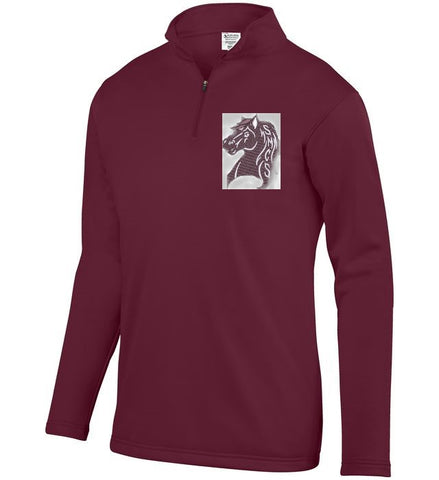 SPIRITWEAR Wicking Fleece Pullover - Maroon
