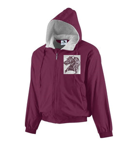 SPIRITWEAR Hooded Taffeta Jacket/Fleece Lined - Maroon
