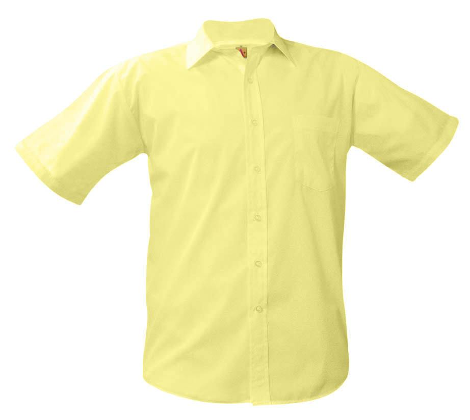 Boys Short Sleeve Dress Shirt Yellow