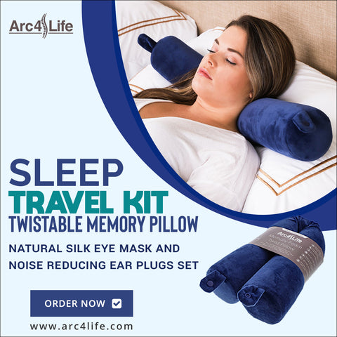 Arc4life Travel Adjustable Pillow