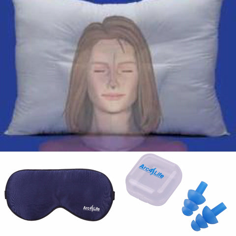 free arc4life Sleep Kit when you purchase two arc4life traction pillows