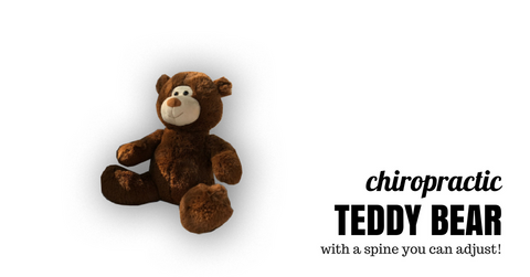 Chiropractic Teddy Bear with a Spine you Can Adjust. Perfect Chiropractic Gift and Toy