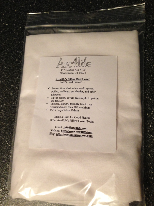 Arc4life Pillow Cover Protectors with Zipper Small, Medium Large
