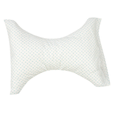 Hour Glass Cervical Rest Neck Pillow Blue Rosebud