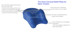 Omni Cervical Relief Pillow Disposable covers qty 100