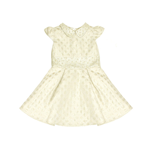 Dot Jaquard Dress with Pearls