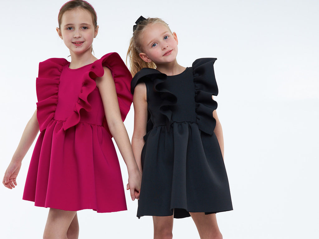 Ruffle Dress (Black)