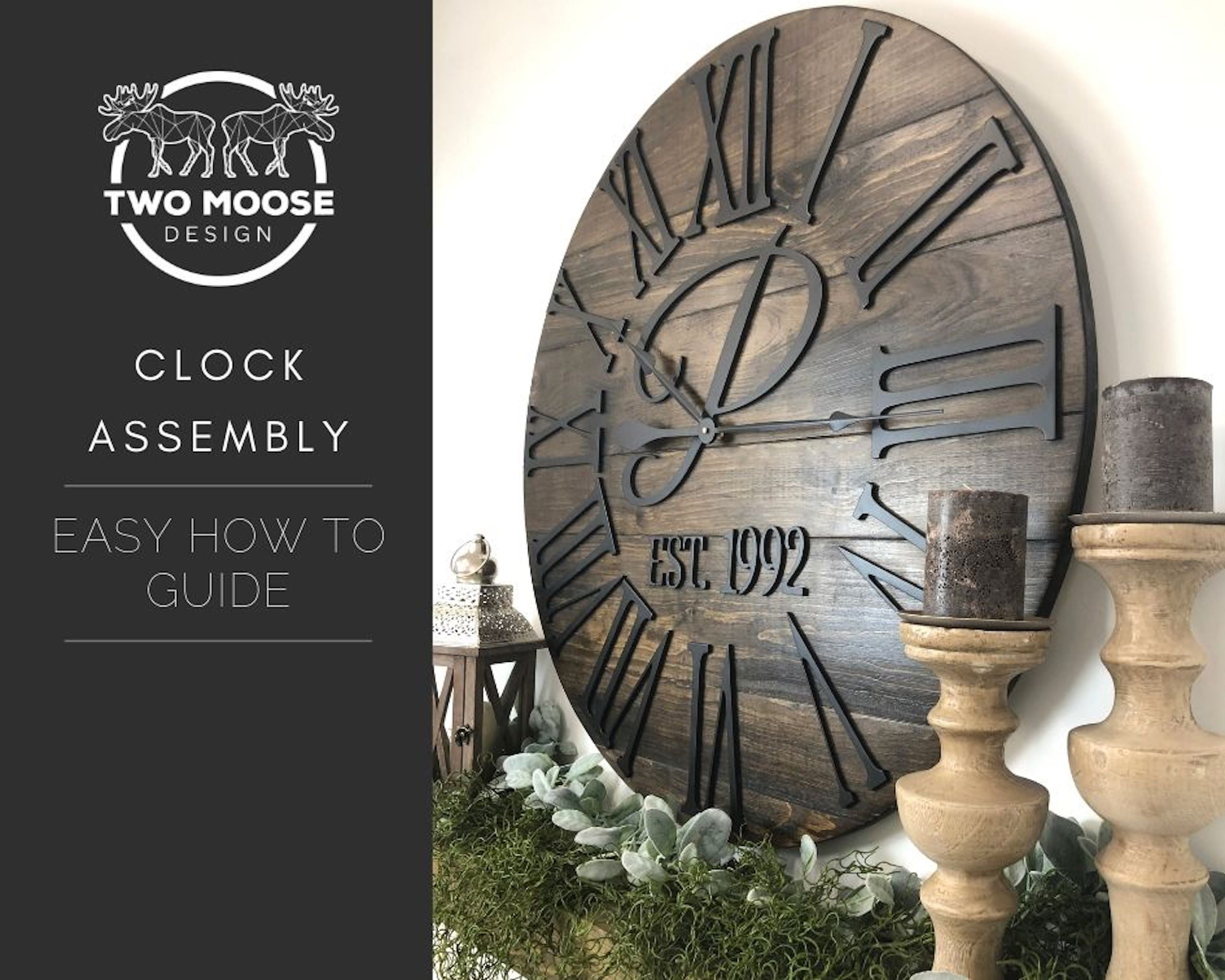 Two Moose Clock Assembly