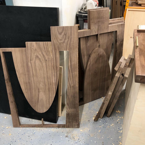 cnc woodworking how to scraps walnut