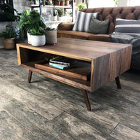 The Jetson Walnut Modern Coffee Table - Two Moose Design