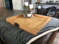 Golden Oak Ottoman Tray - Two Moose Design