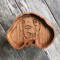 Dachshund Catch All Tray - Two Moose Design