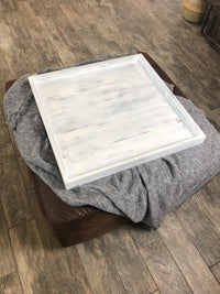 Whitewashed Ottoman Tray - Two Moose Design