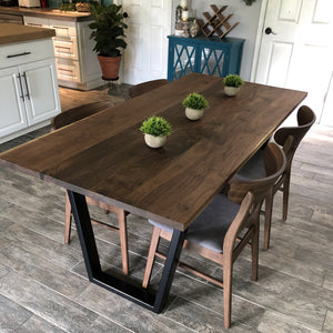 Modern Hardwood Walnut & Steel Table -Free Shipping! - Two Moose Design