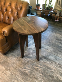 Modern Hardwood Walnut or Maple End Table - Two Moose Design