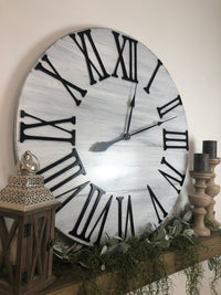 """The Giant Bailey"" Big 3D Roman Numeral Wall Clock"