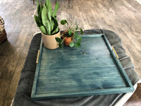 Worn Navy Ottoman Tray - Two Moose Design