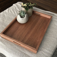 Mahogany Ottoman Solid Hardwood Tray - Two Moose Design