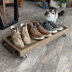 Solid Oak Boot Tray