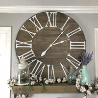 Large decorative oversized mantel wall clock 3d Roman numeral numbers