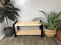 Maple Bench Metal & Maple Modern Shoe Bench - Two Moose Design