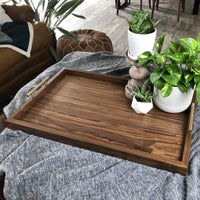 Black Walnut Solid Hardwood Serving/Ottman Tray - Two Moose Design
