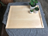 Hard Maple Serving Ottoman Tray - Two Moose Design
