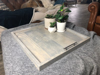 Classic Grey Ottoman Tray - Two Moose Design