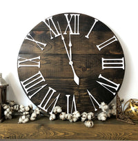 """The Bailey"" Big 3D Roman Numeral Wall Clock"