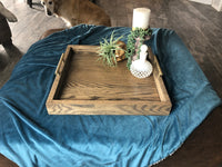 Solid Oak Ottoman Tray - Two Moose Design
