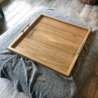 Cherry Solid Hardwood Ottoman Tray - Two Moose Design
