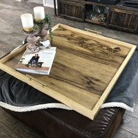 Black Limba Serving/Ottoman Solid Exotic Hardwood Tray - Two Moose Design