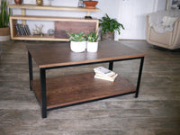 DIY Metal and Wood Coffee Table Plans - Two Moose Design