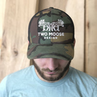 CAMO TWO MOOSE HAT - Two Moose Design