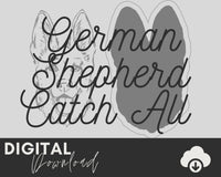 German Shepherd SVG - Two Moose Design