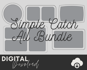 Simple Catch All Tray Bundle SVG - Two Moose Design