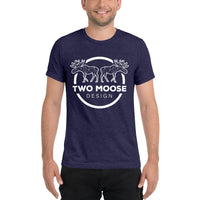 Mens Short Sleeve Fitted t-shirt Two Moose Shirt - Two Moose Design