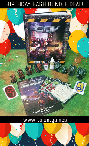BIRTHDAY BASH BUNDLE DEAL! CAV: STRIKE OPERATIONS CORE RULEBOOK