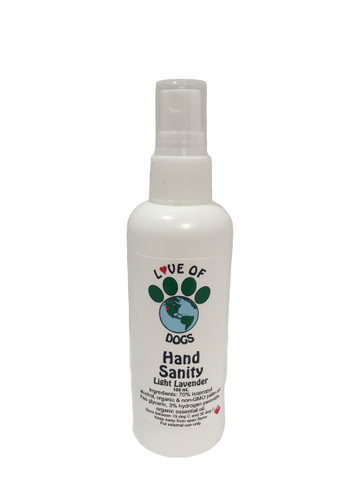 Love of Dogs - Hand Sanity Hand Sanitizer Spray (Light Lavender)   100 mL