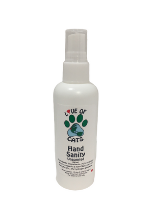 Love of Cats - Hand Sanity (Unscented)   100 mL
