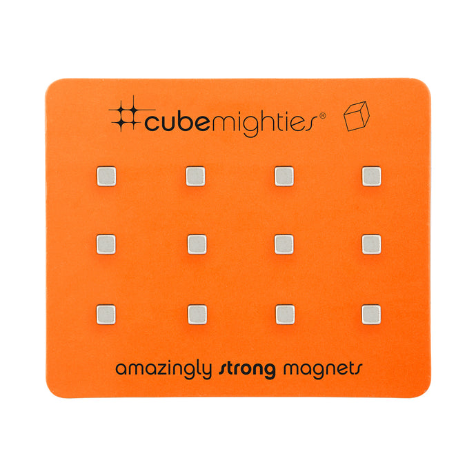 Cube Mighties Magnets-Set of 12-Silver