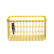 Loop Heavy-Duty Wire Bin-Small-Yellow