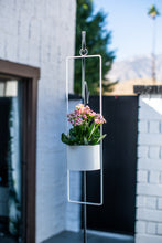 Upright Hanging Planter-large-glossy white
